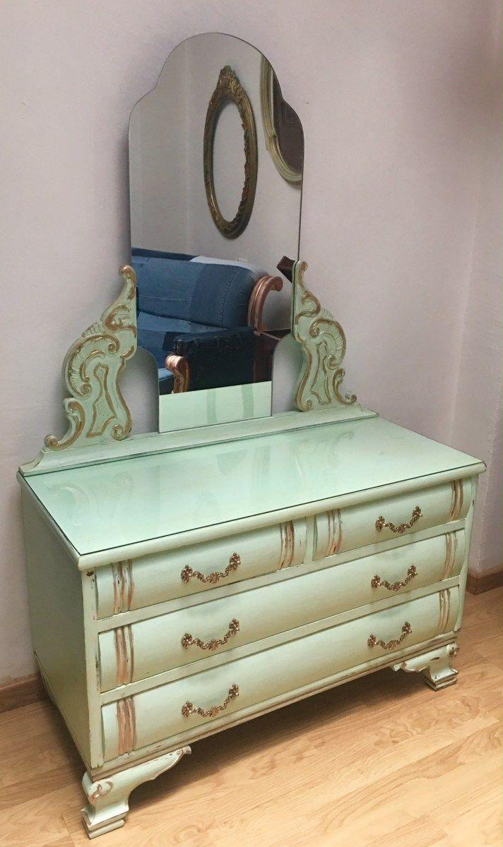 M s de 25 ideas incre bles sobre muebles verde menta en for Coquetas muebles dormitorio