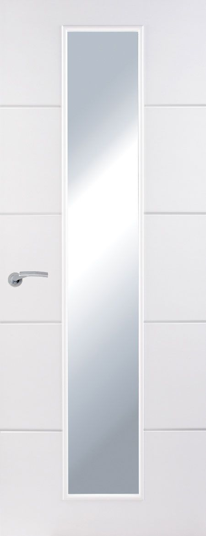 Premdor Premium Horizontal 4 Line Moulded Narrow Clear Glazed Doors