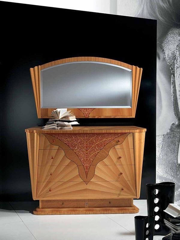 Table de nuit en bois avec tiroirs Chiffonnier Collection Fusion by Carpanelli