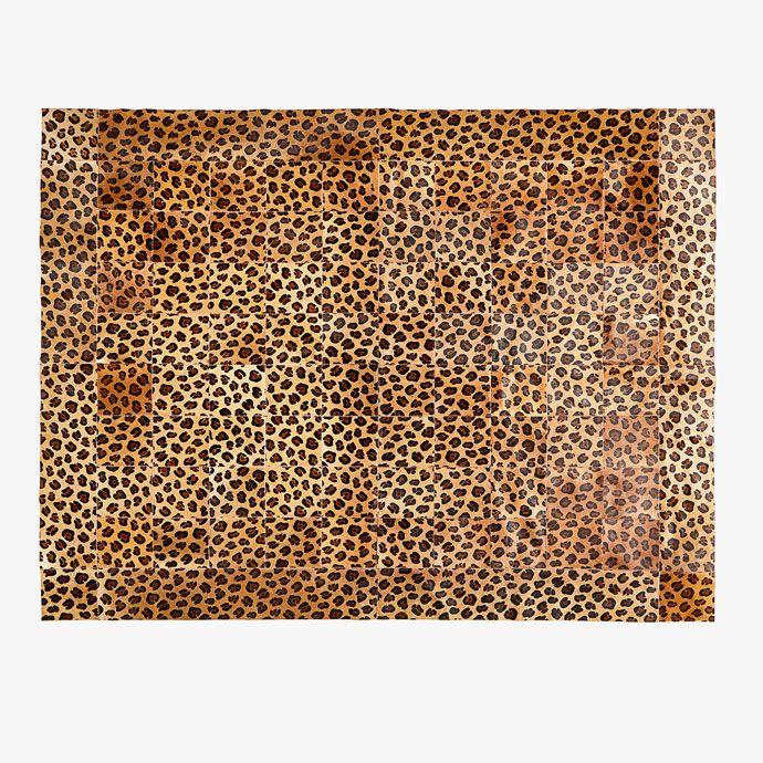 LEREN PATCHWORK TAPIJT MET PANTERPRINT - SALE FAVOURITES ☆ - Laatste stuks | Zara Home Holland
