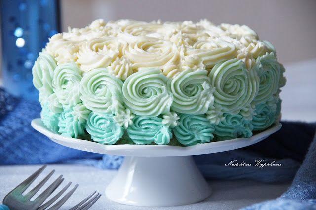 Nastoletnie Wypiekanie: Limonkowy tort z Krainy Lodu (Ombre Rose Cake)