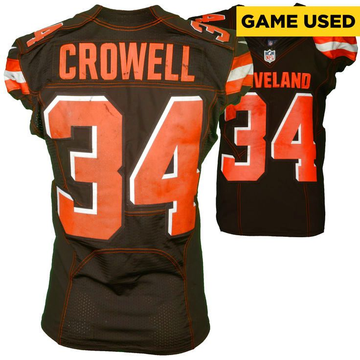 Isaiah Crowell Cleveland Browns Fanatics Authentic Game-Used #34 Brown Jersey vs. Cincinnati Bengals on December 11, 2016 - $999.99