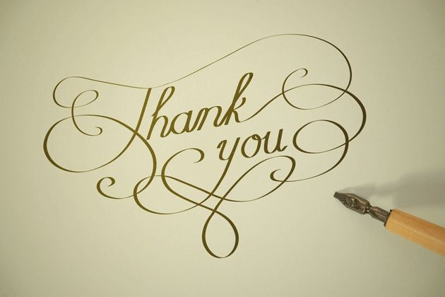 25 best thank you typography ideas on pinterest Thank you in calligraphy writing