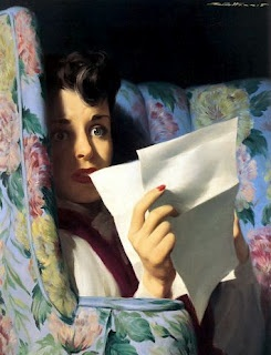 ✉ Biblio Beauties ✉ paintings of women reading letters & books - R.G. Harris
