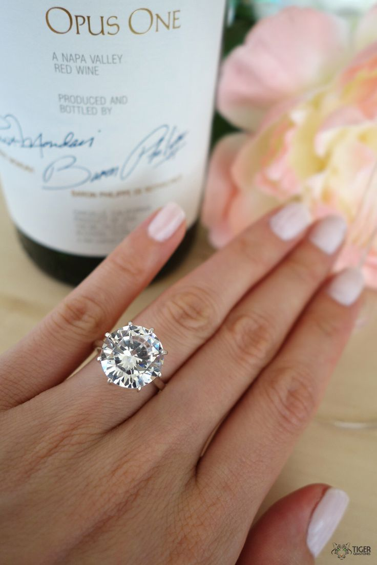 9 Carat Round Cut Solitaire Engagement Ring, Promise Ring, Flawless Diamond Simulant, Wedding, Bridal, Sterling Silver, Birthstone, 14k Gold by TigerGemstones on Etsy https://www.etsy.com/listing/200478896/9-carat-round-cut-solitaire-engagement