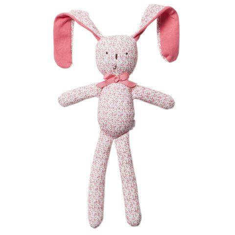 Bebe Layla XW14-786 Petal Print Layla Floppy Rabbit Rattle – Sweet Thing Baby & Childrens Wear #Kids #Gift #Stuff sweetthing.com.au