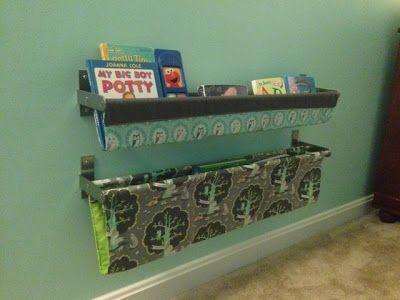 The 25 best book sling ideas on pinterest fabric bookshelf how do it yourself danielle nursery makeover part vii book slings solutioingenieria Choice Image