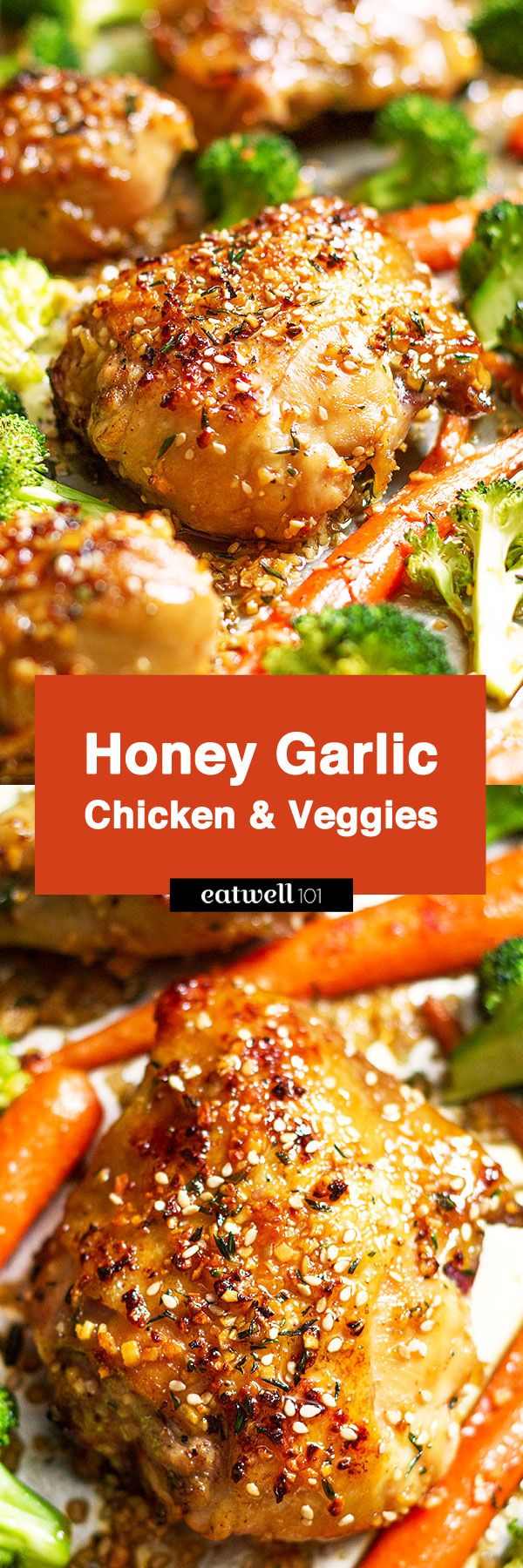 You'll never believe how simple it is to make this sheet pan honey garlic chicken with veggies! Tender chicken, crisp veggies and packed with tons of flavor. Say hello toyour new go to on bu…