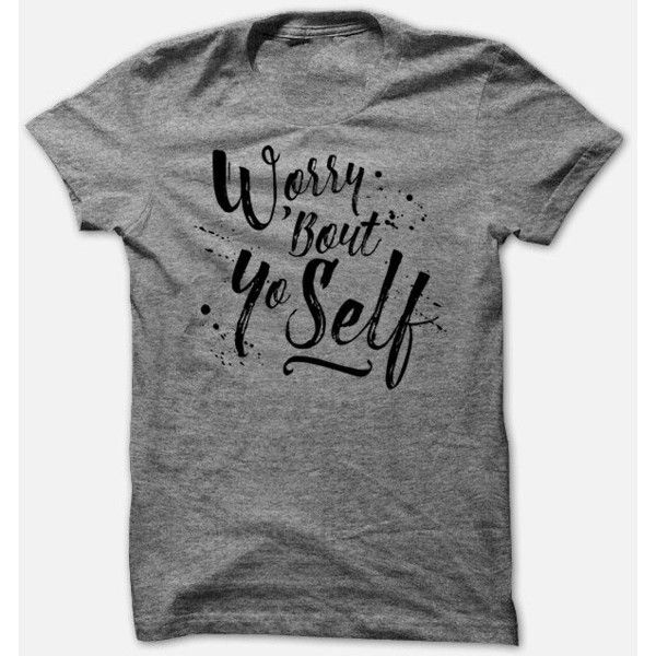 Worry Bout Yo Self Funny Sarcastic Tee Soft Woman's T Shirt Triblend ($23) ❤ liked on Polyvore featuring tops, t-shirts, grey, women's clothing, vinyl t shirt, boxy tops, grey tee, unisex t shirts and gray t shirt