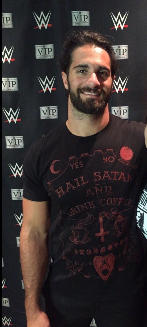 Seth Rollins cute smile -- That shirt though, I like it xD