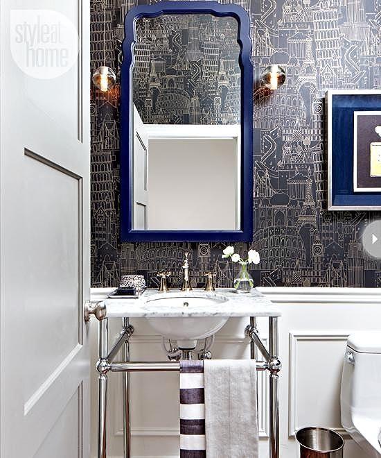 137 Best Powder Rooms Images On Pinterest