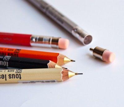 mechanical wooden pencils