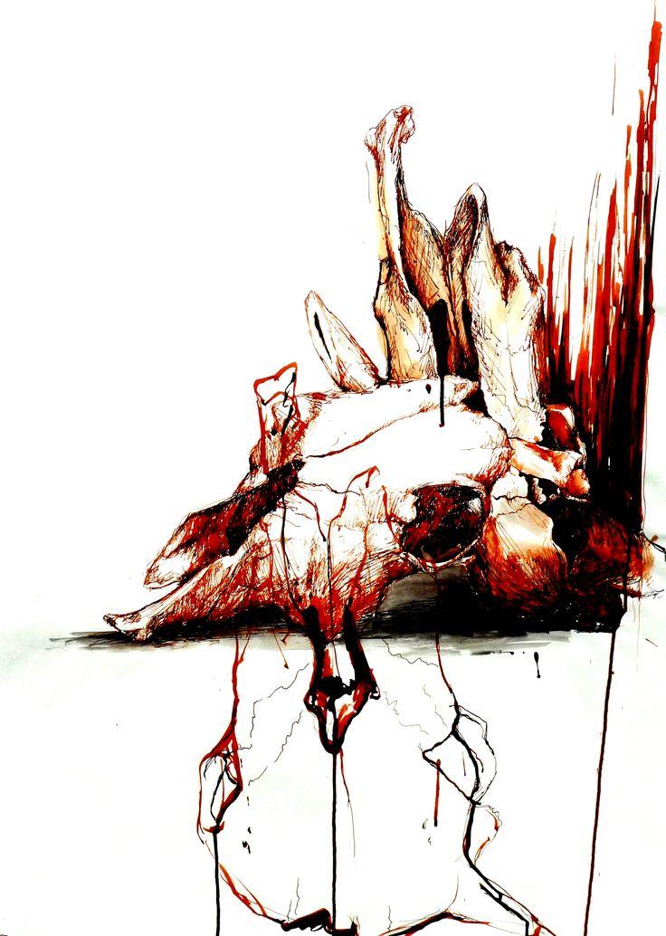 Helena Traut, Art, Illustration, schädel