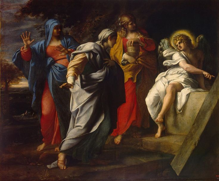 Las Santas Mujeres en la Tumba de Cristo, de Annibale Carracci, c. 1590.