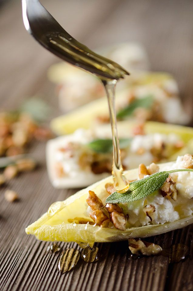 Honey & Goat Cheese Endive Bites