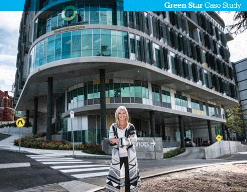 Green Star - Olivia Newton-John Cancer & Wellness Centre - Embraces sustainable design to support wellness and patient wellbeing #greenbuilding #greenstar #healthandwellbeing #olivianewtonjohn