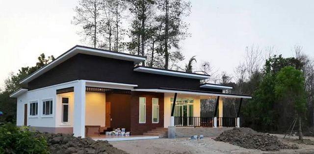 Review : บ้านไร่ในสวน 3 ห้องนอน 2 ห้องน้ำ ทรงโมเดิร์นเพิงหมาแหงน งบประมาณ 1.2 ล้าน | NaiBann.com