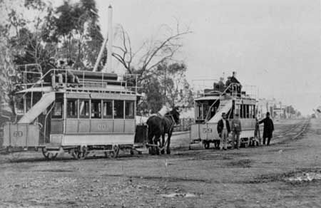 North Adelaide balloon loop terminus, O'Connell Street. 1878.