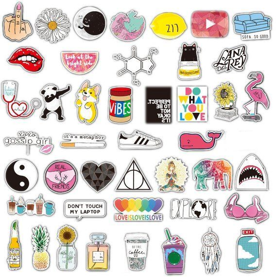 Lovely Girl 45pcs Stickers Pack, Laptop stickers, MacBook stickers, Bumper stick…