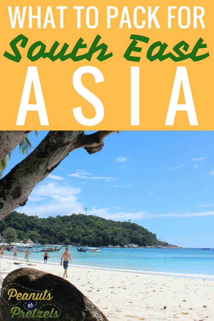 Southeast Asia is one of the most popular destinations for travelers in Asia, especially budget travelers and backpackers. It can be overwhelming trying to decide what to bring on a trip to SE Asia, especially if you have never gone before. After traveling and living in SE Asia for quite some time, we have put together a Southeast Asia Packing List. Click through to download our South East Asia Packing List for free. | Peanuts or Pretzels Travel #packinglist #seasia