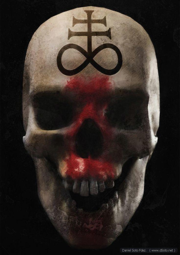 The symbol in the skull