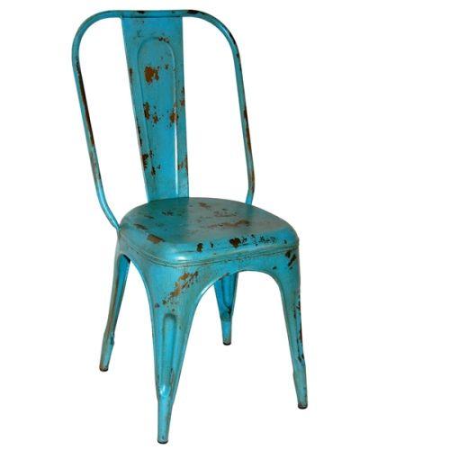 Stol Antikblå Vintage - Trademark Living - Stolar - Matstolar