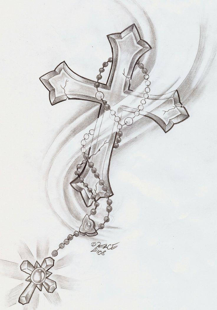 tatouage croix avec rose avant bras. Black Bedroom Furniture Sets. Home Design Ideas