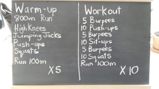 High Intensity Interval Training workout.