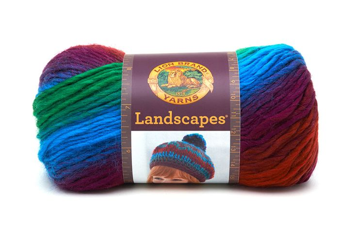 Lion Brand Yarn : Landscapes Yarn from Lion Brand Yarn Hearts and Flowers ...