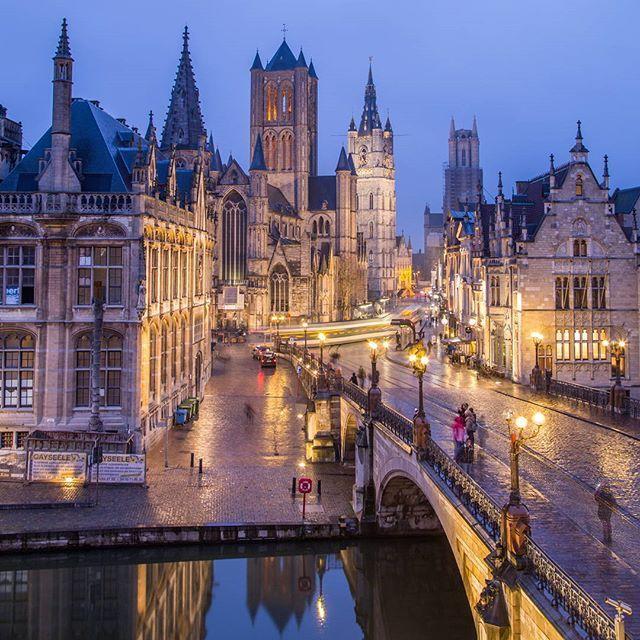 Nights in Ghent, Belgium   .  #gent #belgium