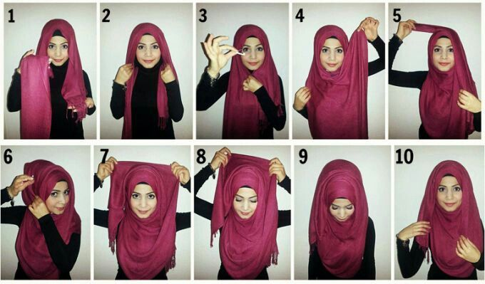 How To Create Folds With Your Hijab