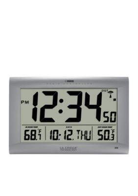 Lacrosse Technology  Large Digital Clock With Outdoor Temperature - Gray - One Size