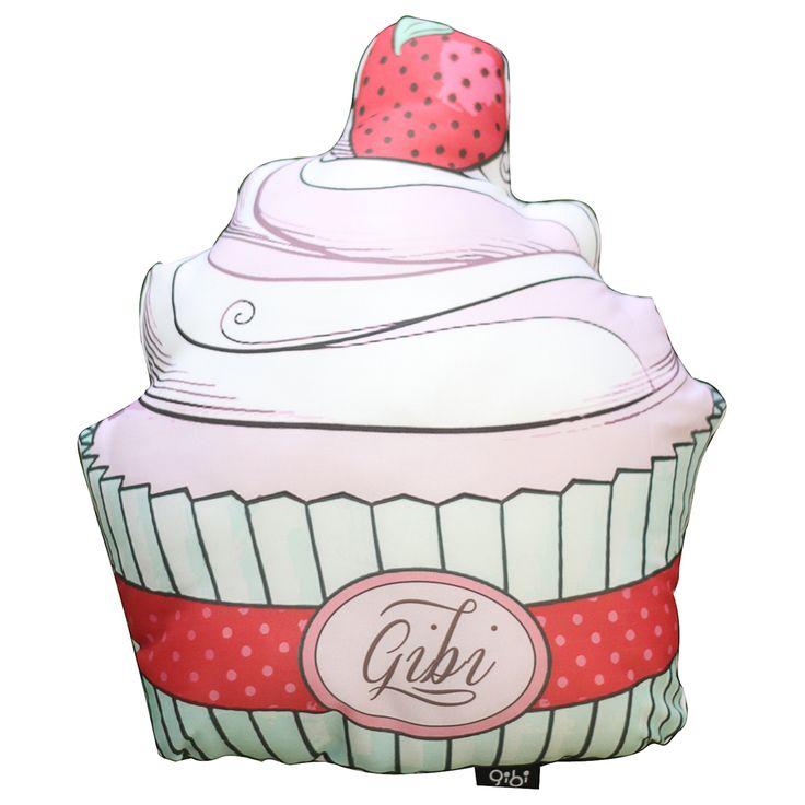 GibiDesign - Çilekli Cupcake - Yastık / Kırlent  Strawberry Cupcake Cushion Evinizin en lezzetli aksesuarı Çilekli Cupcake şekilli yastık / kırlent.   * Gibi Tasarım Ürünü  * Çilekli Cupcake Şekilli Yastık / Kırlent  * Silikon Elyaf Dolgulu  * Saten Kumaşa Özel Tasarım Baskı * Arkası Beyaz Saten  * El İşçiliği Kesim ve Dikiş  * Nemli Bez ile Silinebilir  * Ölçüler = En: 40 cm, Derinlik: 15 cm , Yükseklik: 46 cm