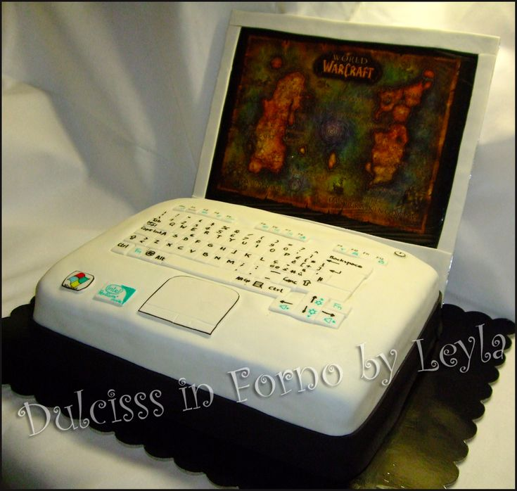 Torta PC o Notebook, tutorial passo passo Tutorial torta notebook tutorial torta computer step by step cake pasta di zucchero PDZ Dulcisss in forno