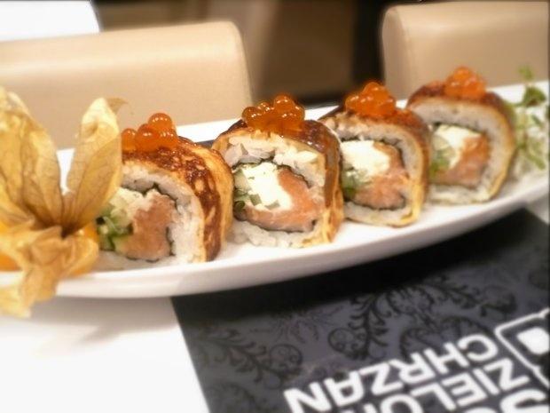 Sushi Zielony Chrzan, ul. Żwirki 8; Danie konkursowe: Carskie Uramaki