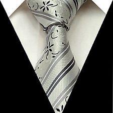 New Men's Neck Tie Silk Wedding Groom Party striped Necktie Handmade F57