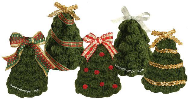 Árbol de Navidad Amigurumi - Patrón Gratis en Español y con Videotutorial aquí: http://www.tejiendoperu.com/navidad/%C3%A1rbol-de-navidad-tejido-a-crochet/