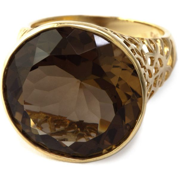 Effy Collection Smoky Quartz Ring In 14 Kt. Rose Gold ❤ liked on Polyvore