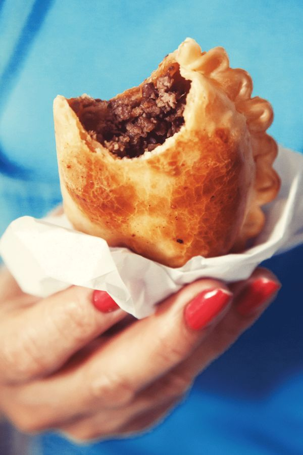 An Argentine lunch staple, these flaky baked empanadas have a spicy beef filling, and get baked instead of fried.