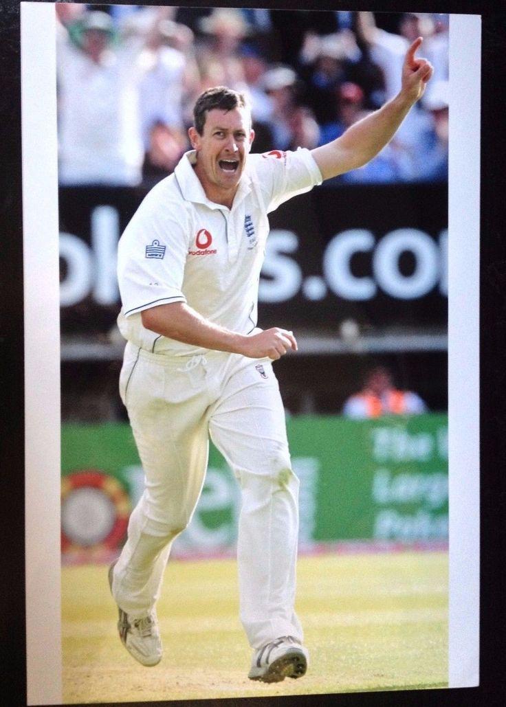ASHLEY GILES - ENGLAND CRICKETER - SUPERB UNSIGNED COLOUR PHOTOGRAPH | Sports Memorabilia, Cricket Memorabilia, Photographs | eBay!