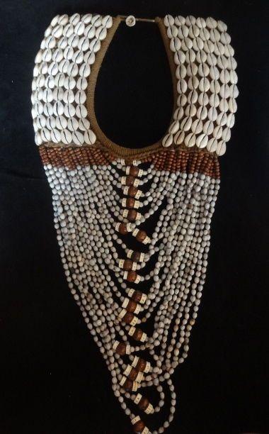 Ethnic Jewelry Shell Necklace Women Fashion Tribal Art Boho Luxe Decor Bohemian #Ratna