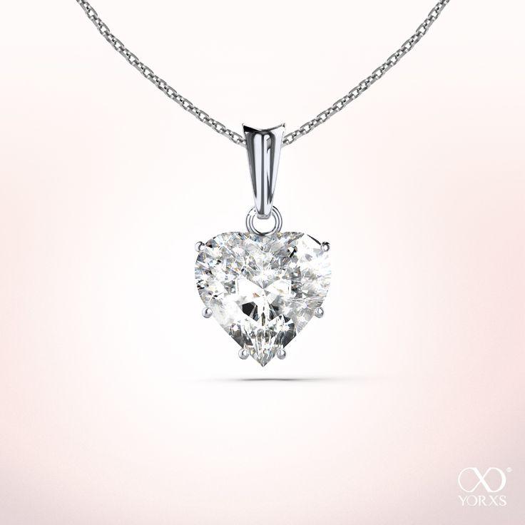 Goldkette herz diamant