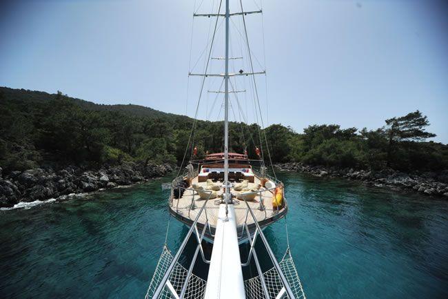 The front deck of 8 cabin #gulet #yacht http://www.guletvoyage.com/ms-849-gulet-yacht.html