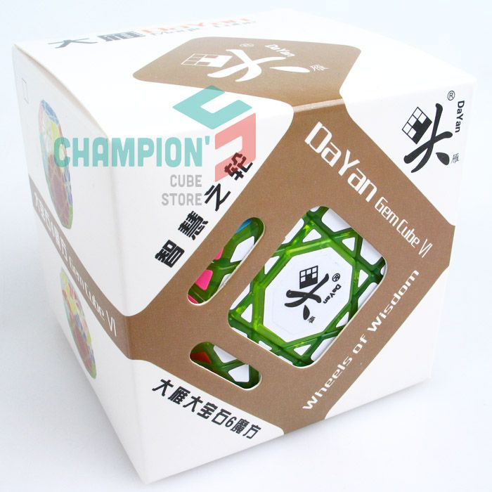 DaYan Gem Cube VI green-transparent [DYG644] - $59.99 : Champion's Cube Store