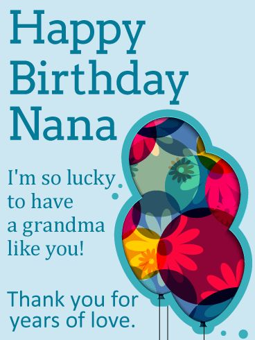 10 best birthday cards for grandma images on pinterest happy so lucky to have you happy birthday card for grandma your nana is like bookmarktalkfo Images