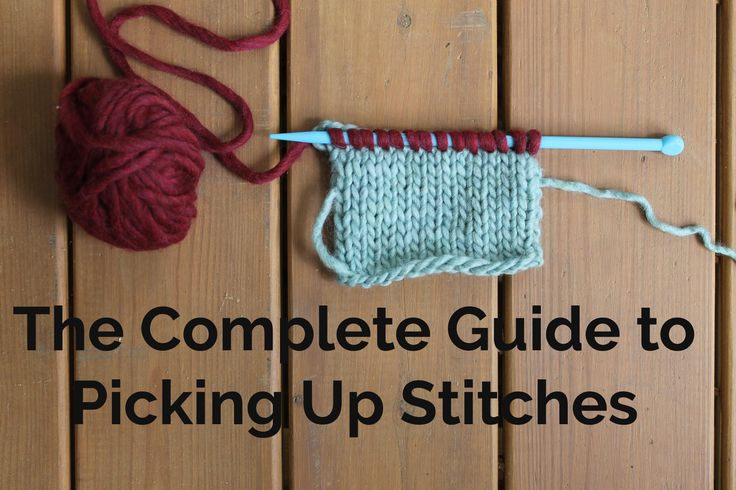 "Not sure what your pattern means by ""pick up stitches""? Knitting blogger Ashley Little's super simple tutorial guides you through this essential technique."