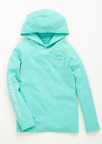vineyard vines pullover sweatshirt with hoodie/mint green
