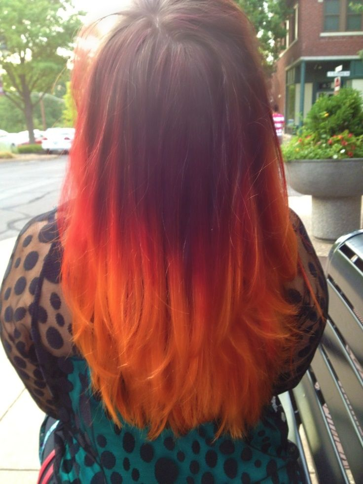 fire and flame colored hair organic
