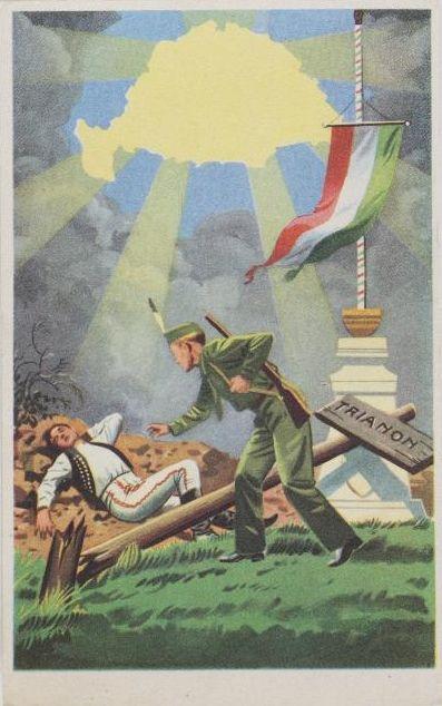 Trianon revíziós képeslap 1940
