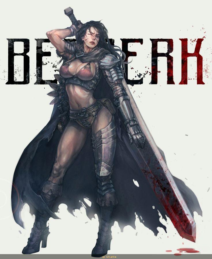 #Berserk #Guts - Female Version by Stato Ozo